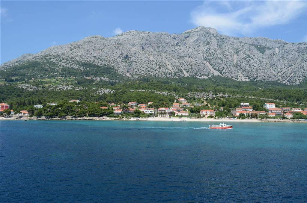 Orebic Peljesac View To The St. Ilija Mountain